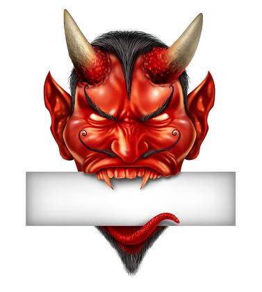 Devil Head Blank Sign