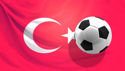 flag of Turkey background 3d rendering
