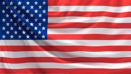free download: flag of United states of america 3d rendering