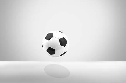 hover soccer ball football 3d rendering