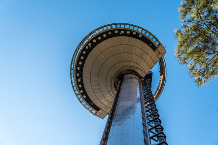 Low angle view of Faro of Moncloa in Madrid