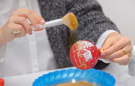 Make Glitter Glass Ball Ornaments