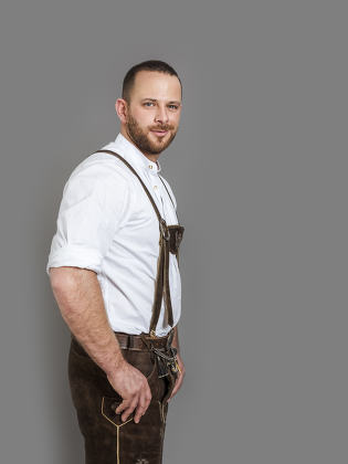 man in bavarian traditional outfit for Oktoberfest