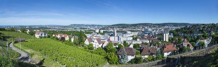 panoramic view to Stuttgart