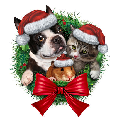 Pets Holiday Wreath