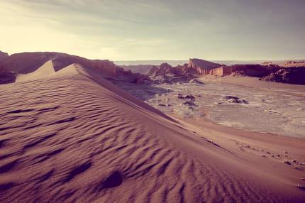 Sand dunes in Valle de la Luna, San Pedro de Atacama, Chile