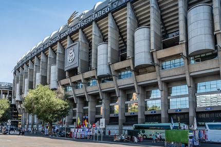 Santiago Bernabeu Stadium. It is the current home stadium of Rea