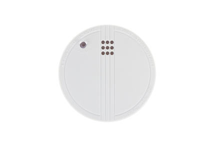 Small round battery operated device to warn residents of fire, i