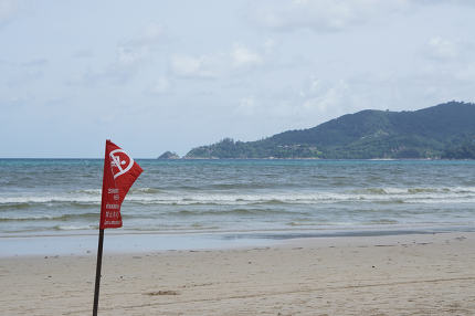 too stormy for swimming in Thailand at Patong Beach June 19 2017