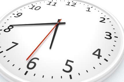 white clock detail