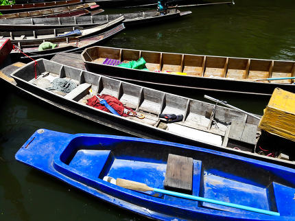 Wooden Boats in Thailand.