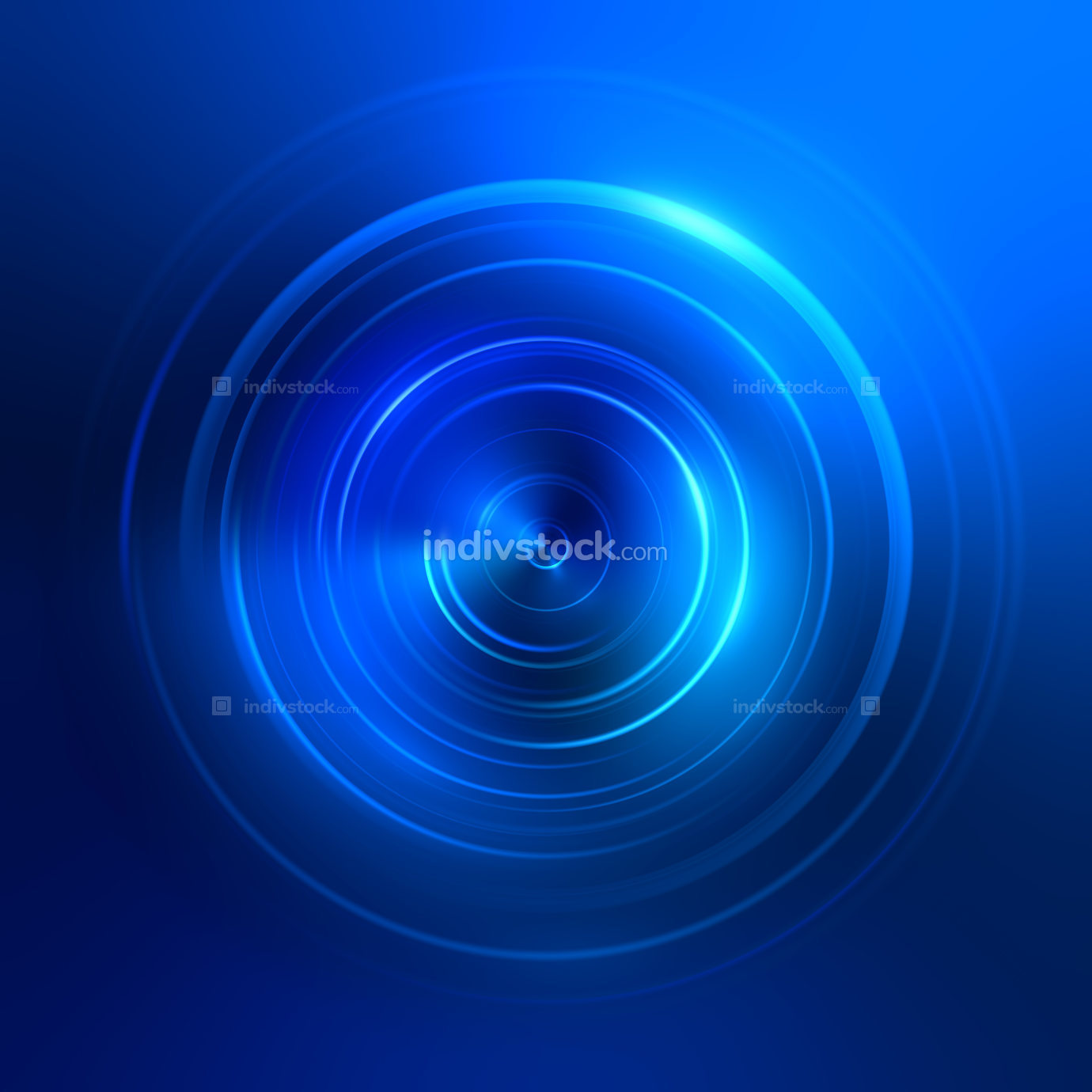 2d illustration blue light circles background