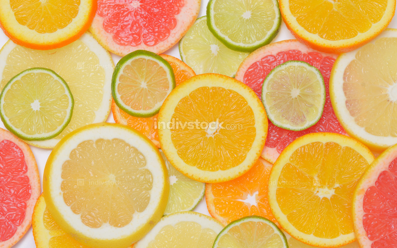 Background with citrus fruit