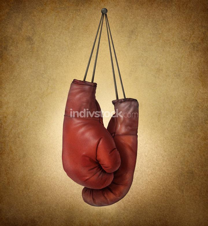 Boxing Gloves Grunge