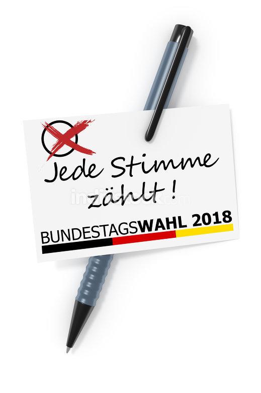 Bundestagswahl 2018 Jede Stimme zaehlt
