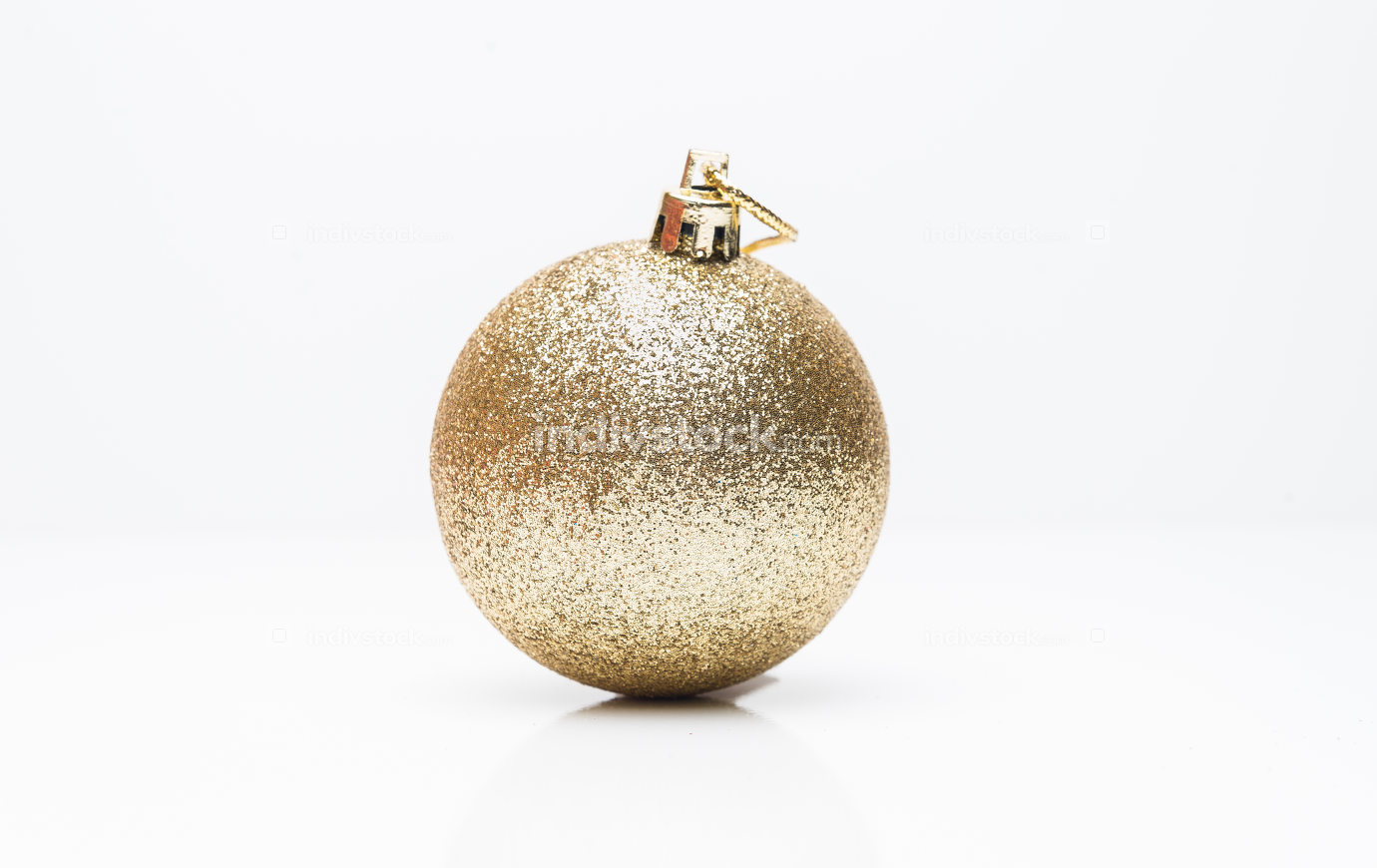 Christmas ball isolated on white background.