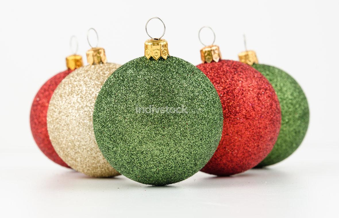 Christmas balls isolated on white background