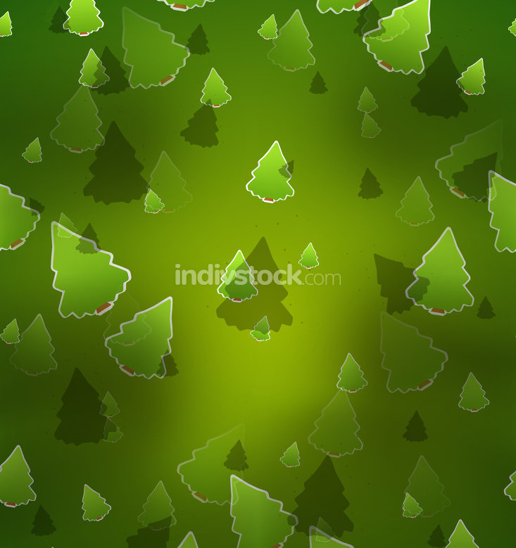 dark green background trees christmas design graphic