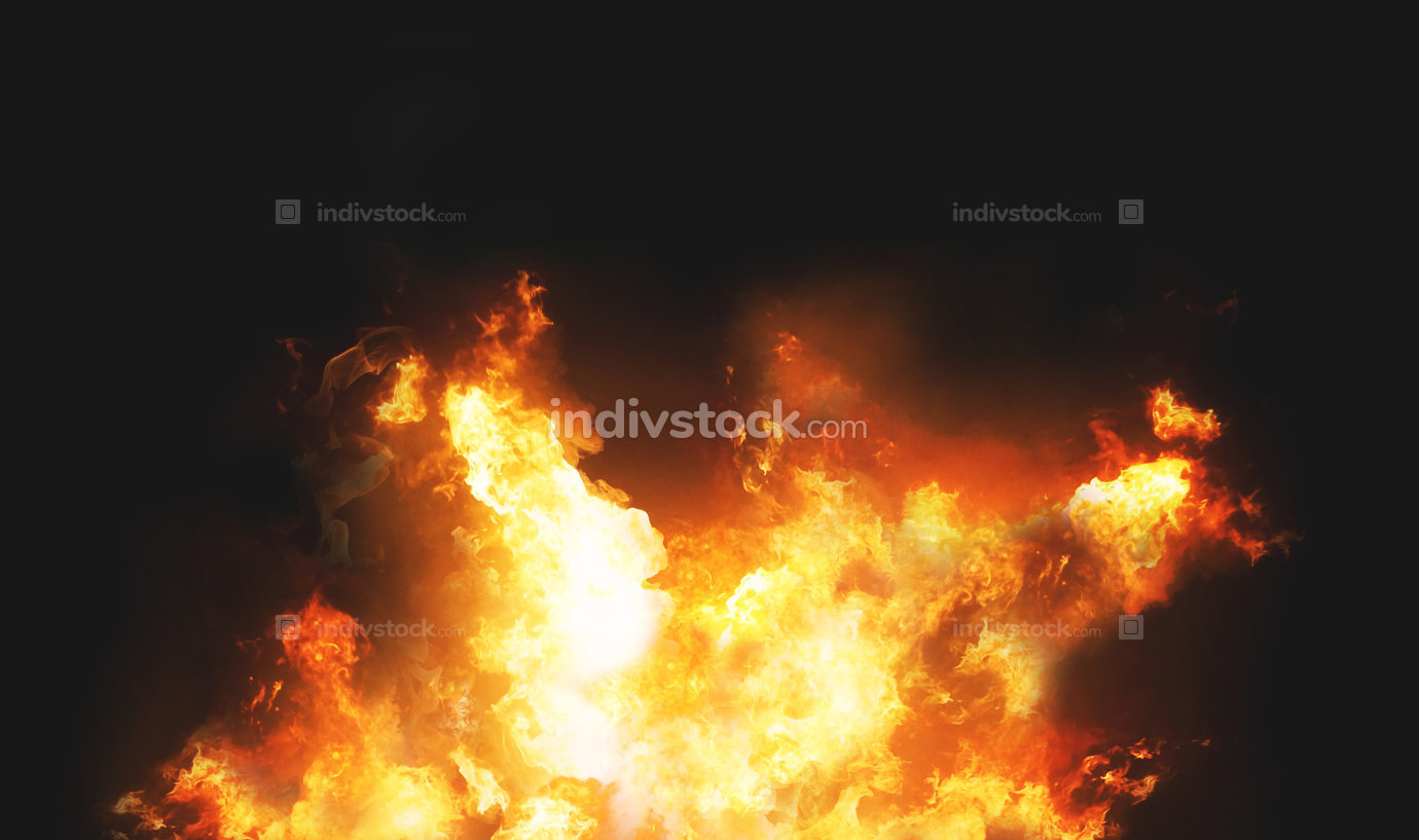 fire flames background 3d render