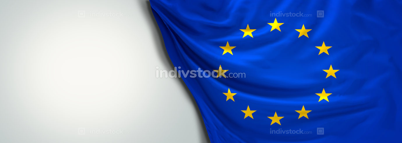 Flag of Europe EU 3d rendering