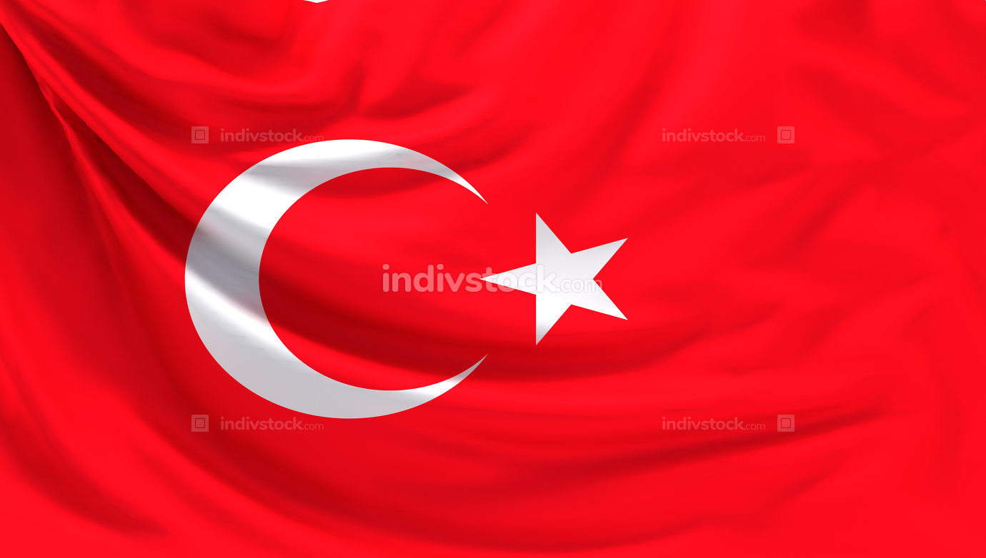 flag of Turkey 3d rendering