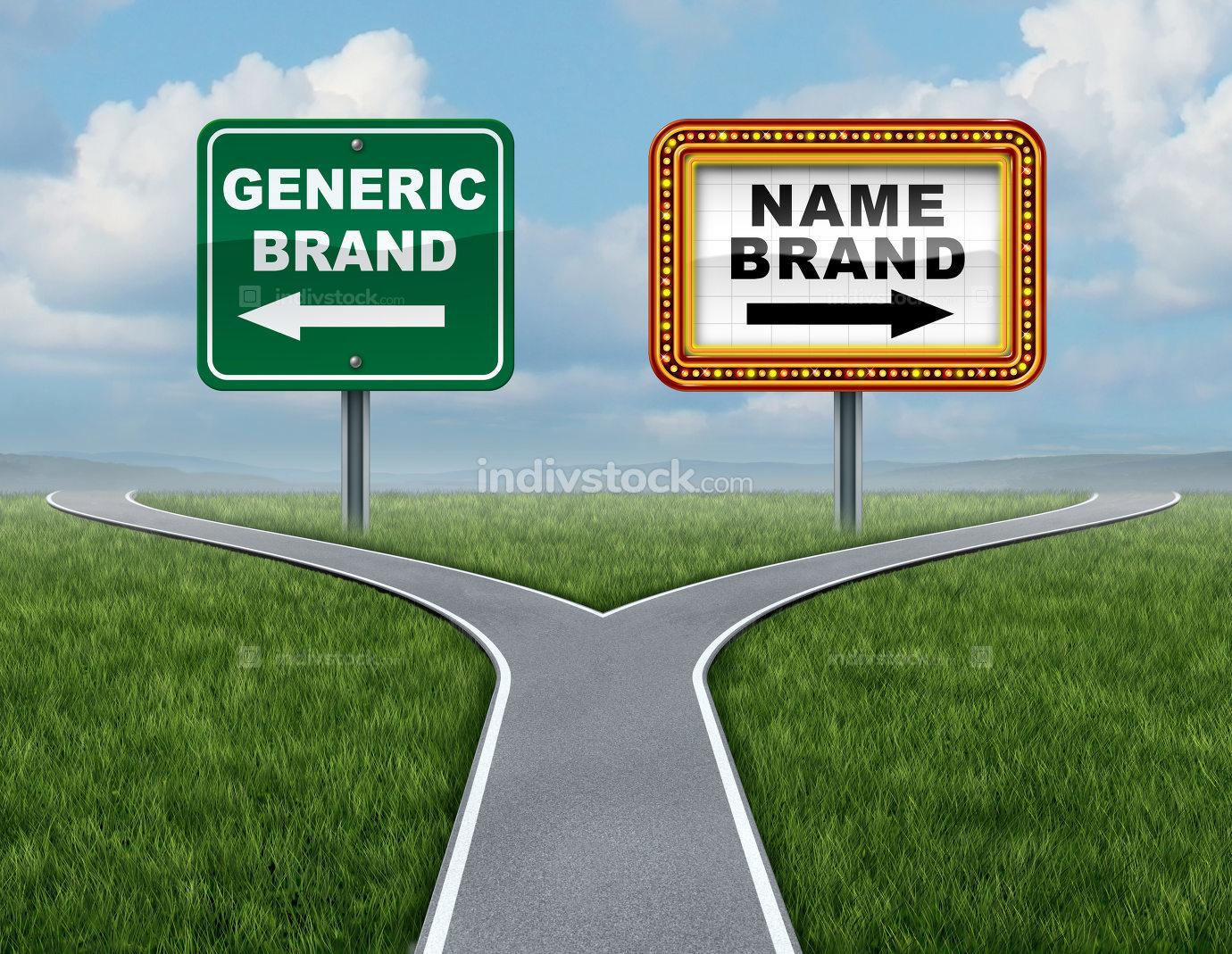 Generic Brand Versus Brand Name