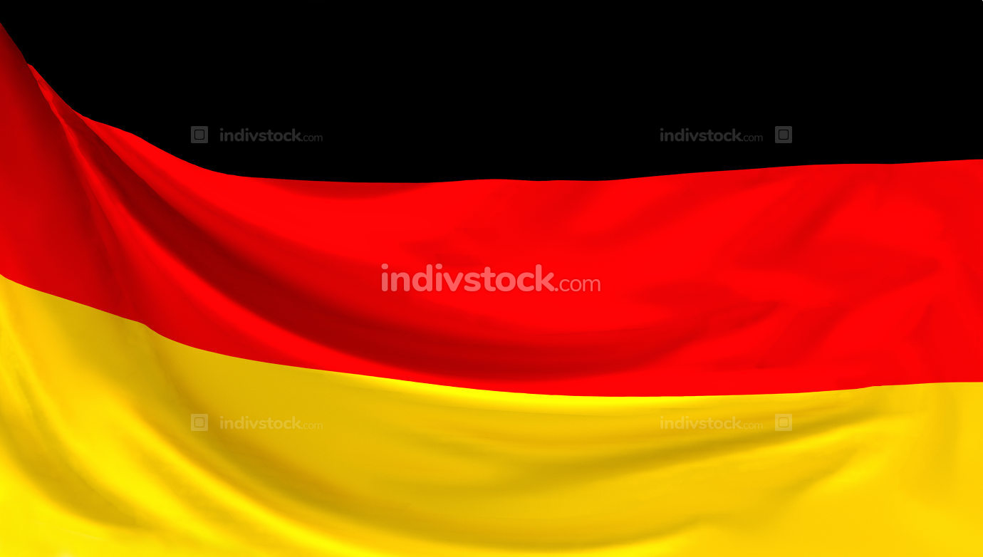 german flag. 3d rendering of flag of Germany
