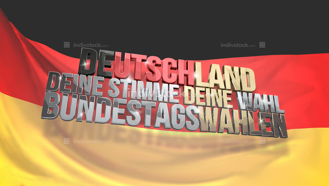 german language for Germany your voice your vote presidential el