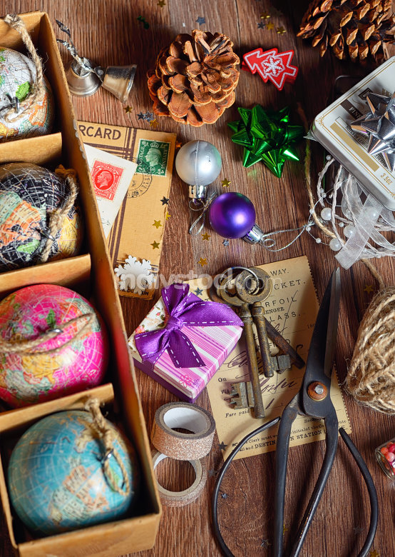 Gifts and christmas ornaments