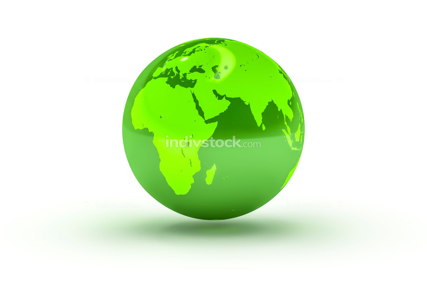 green globe sphere