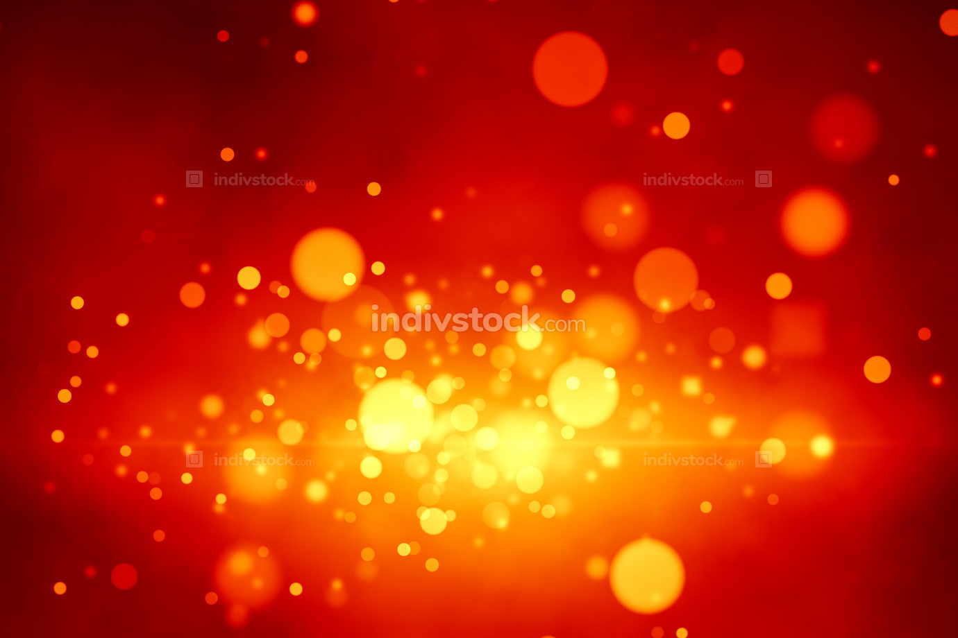 Illustration a stylish bokeh lights christmas background