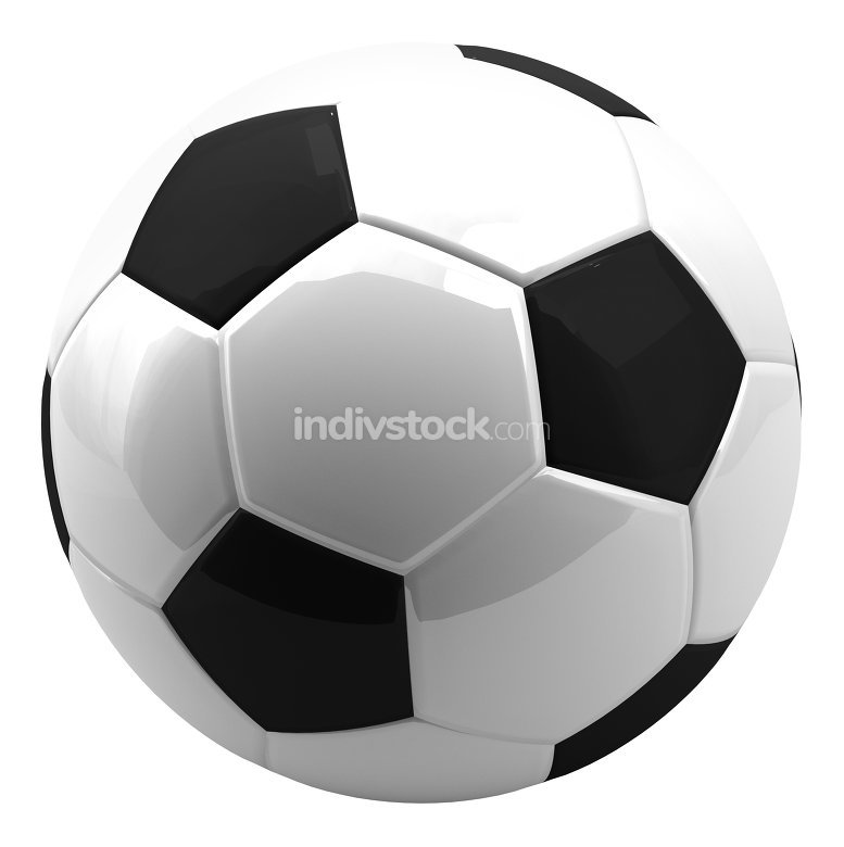 isolated soccer football ball. 3d rendering