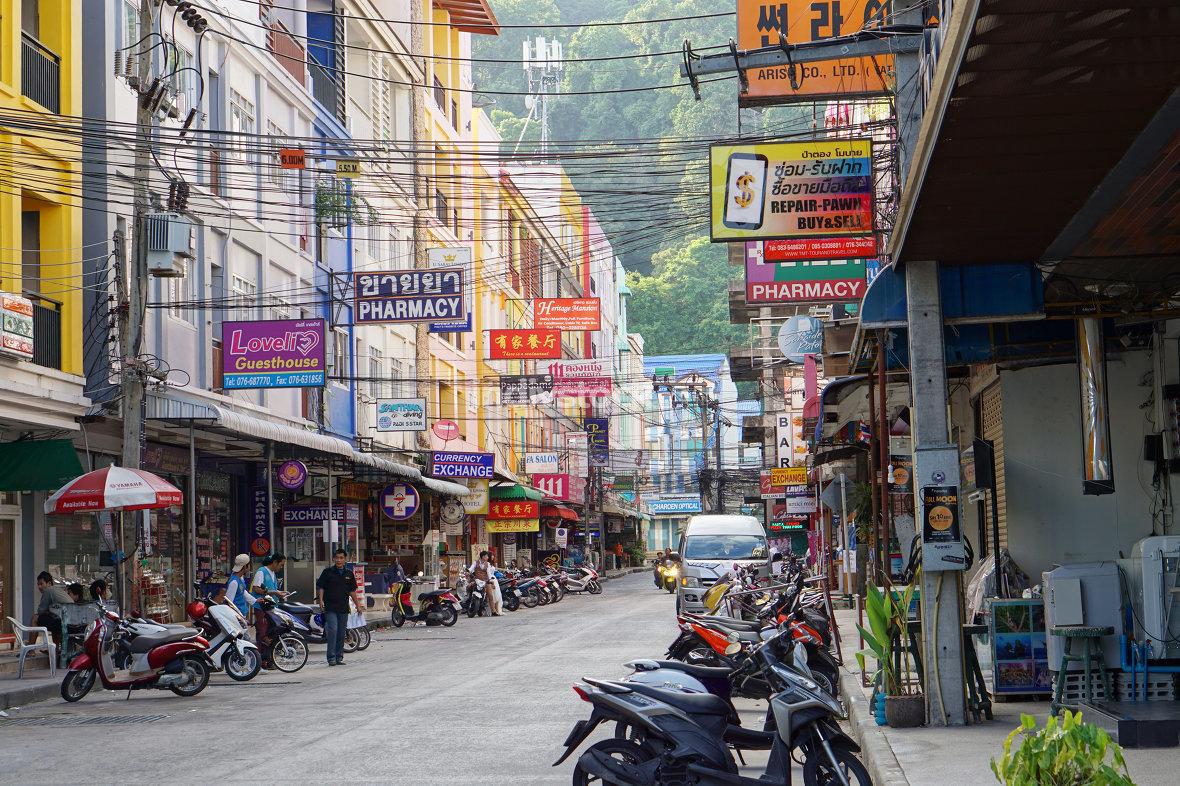 Patong Phuket small typically Soi near bangla Road in Paton Phuk
