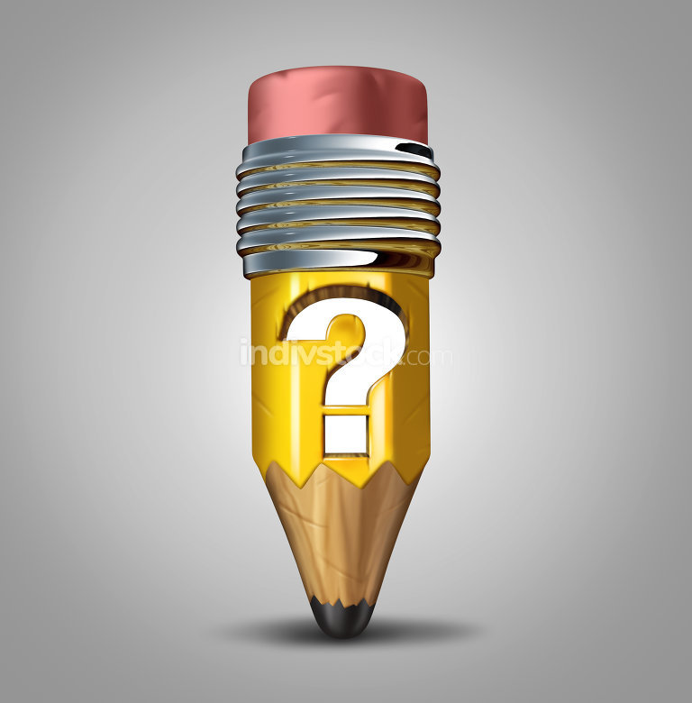 Pencil Question Mark