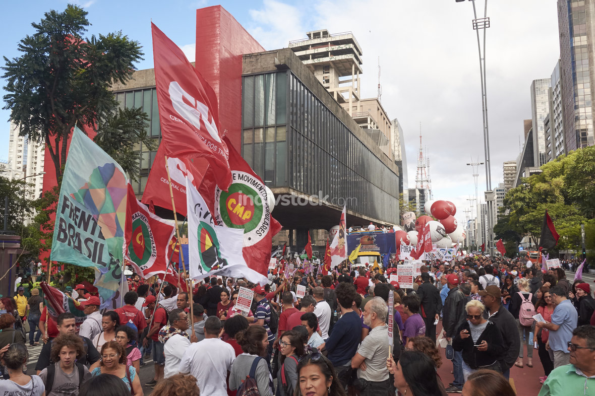 Protest of workers in Sao Paulo. March 31, 2017