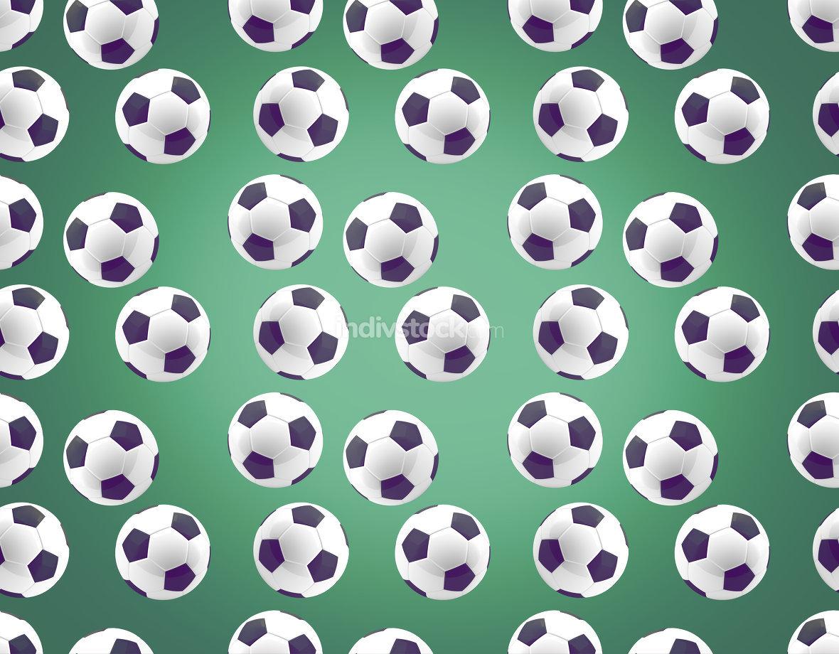 seamless soccer football ball 3d rendering