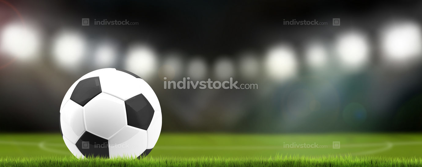 soccer football ball stadium 3d rendering