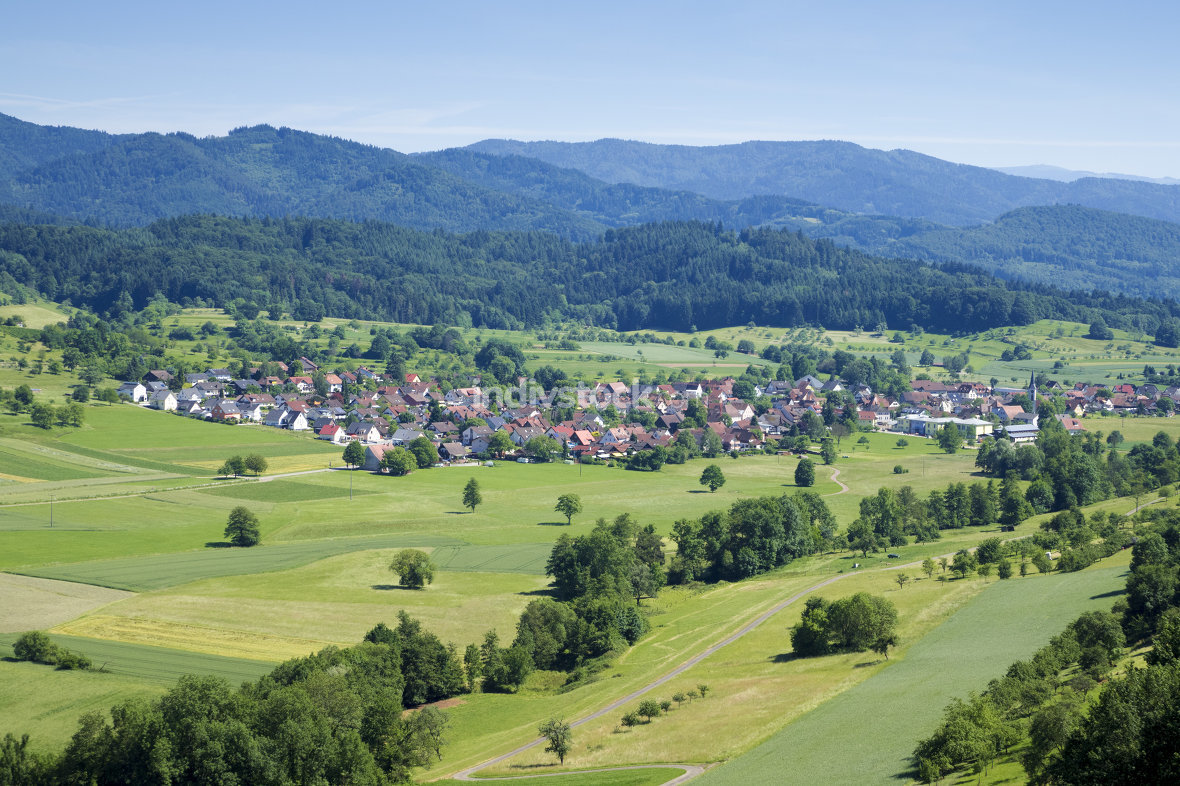 the village Sexau in Germany