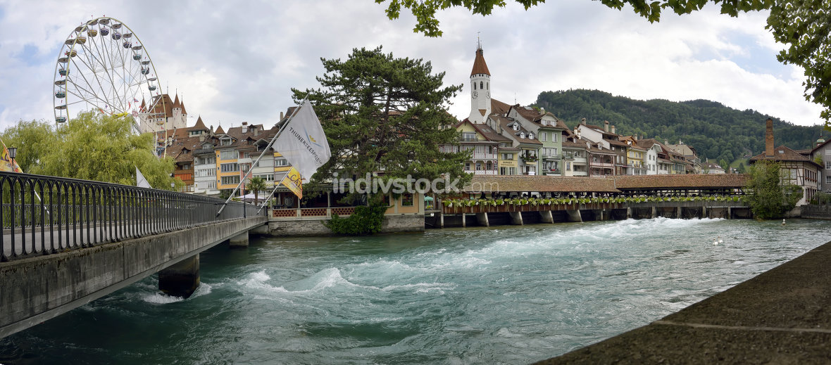 Thun, Aare in Switzerland