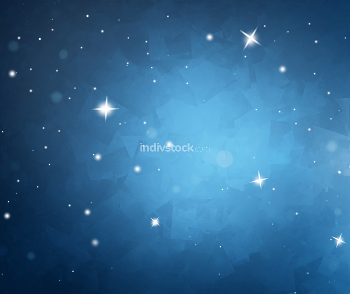 winter blue snowflkes background illustration sky