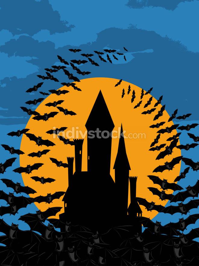 Bats castle Halloween