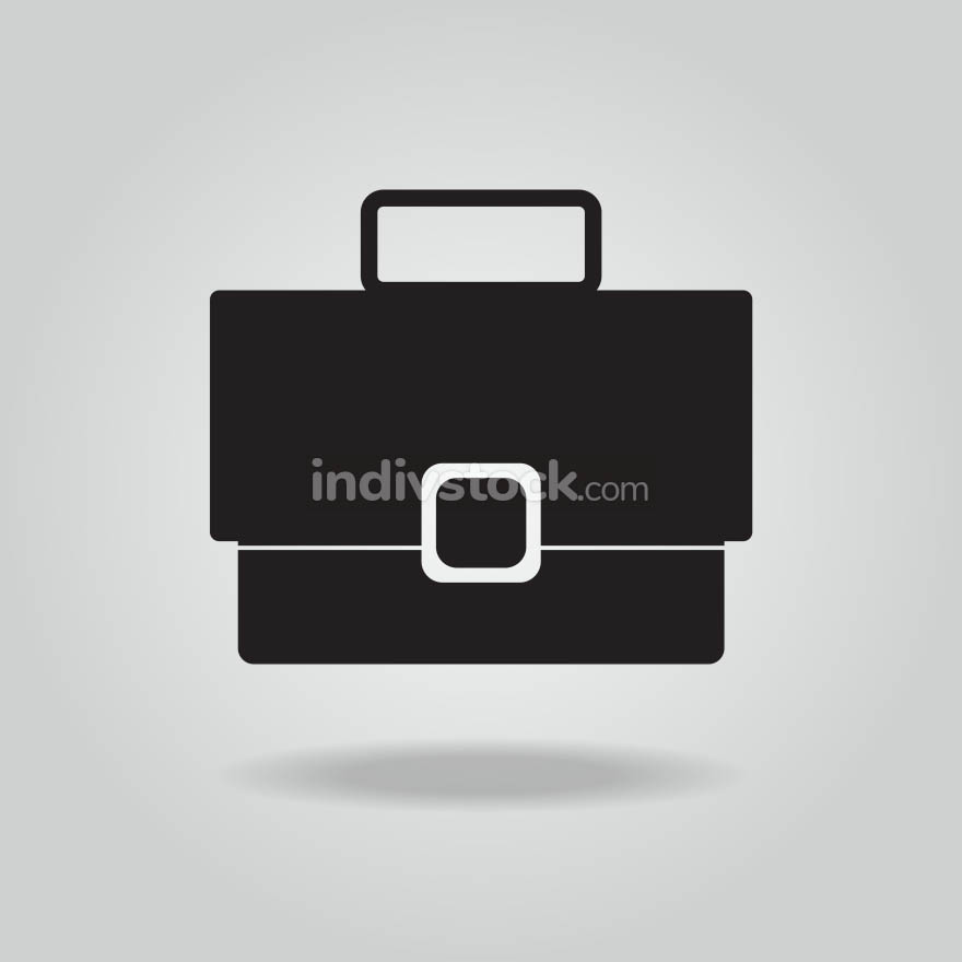 Briefcase vector icon, Bag vector icon