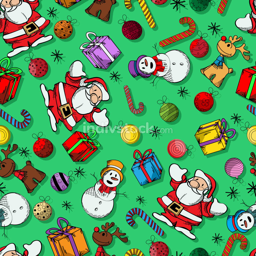 Colored Christmas pattern