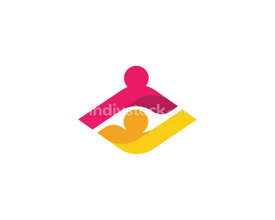Community care Logo template vector icon