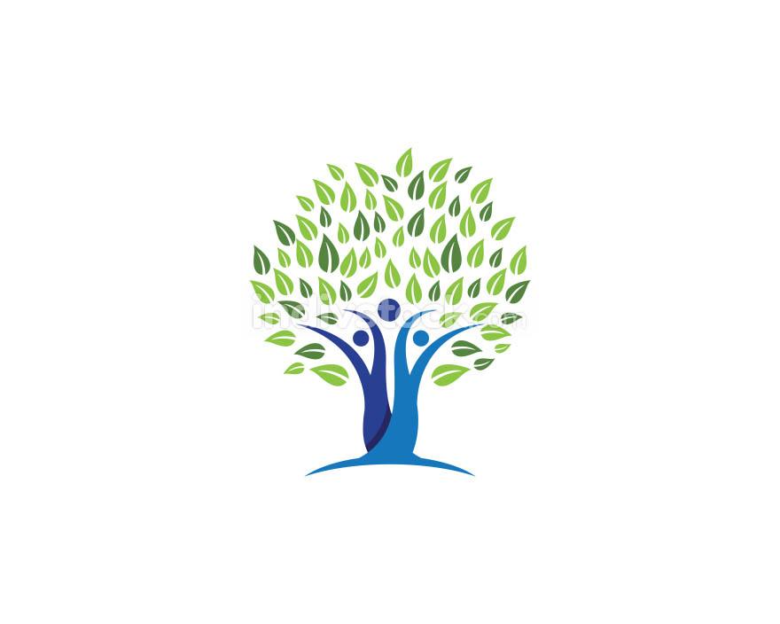 family tree symbol icon design
