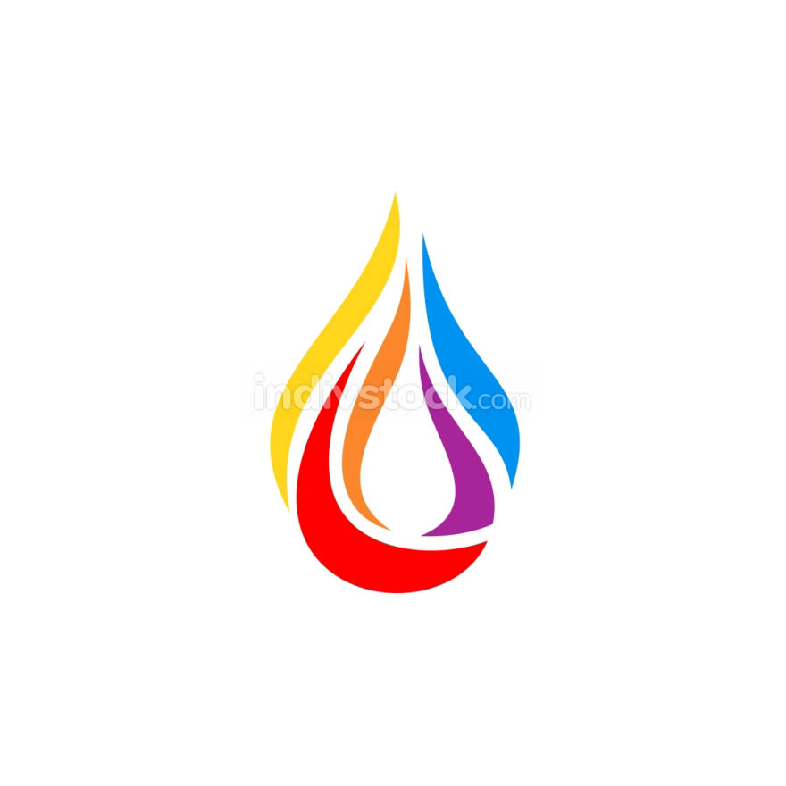modern drop hot fire flame logo symbol icon vector design