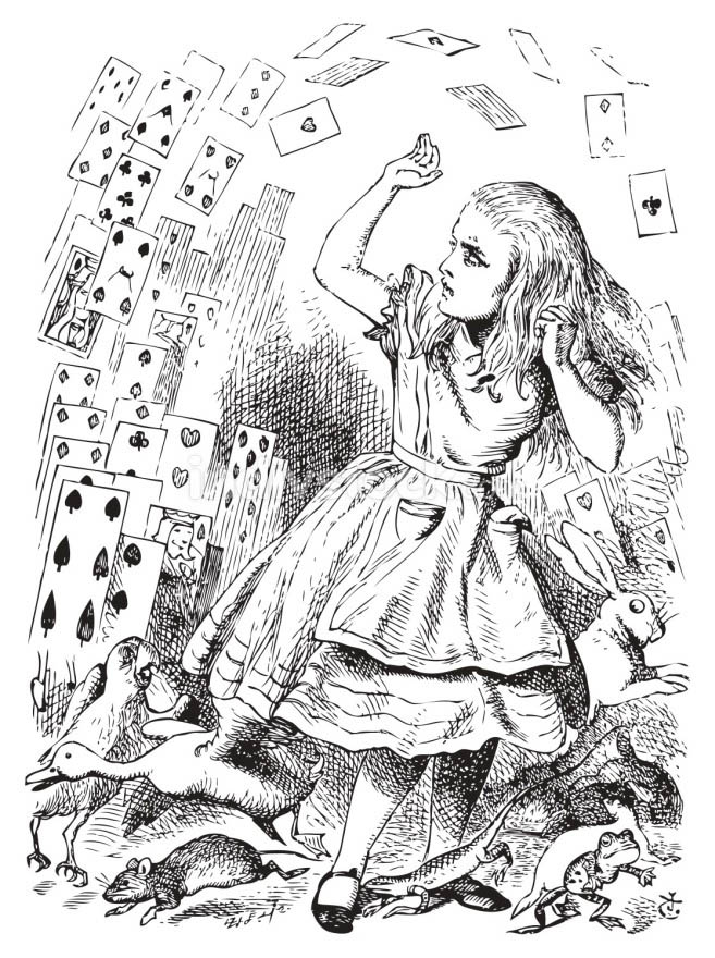 Nothing but a pack of cards. Alice in Wonderland