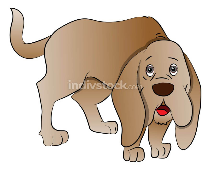 Vector of cute boxer dog.
