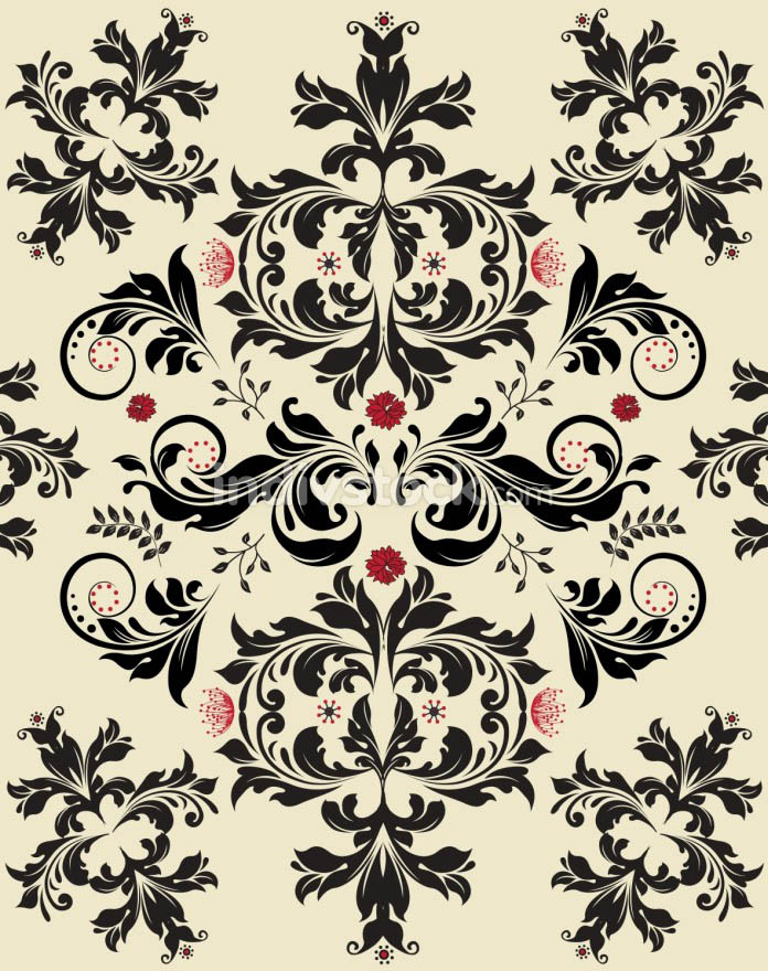 Vintage background with ornate elegant retro abstract floral des