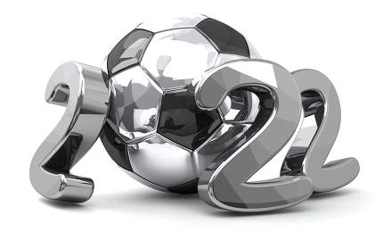 2022 soccer football ball silver 3d rendering